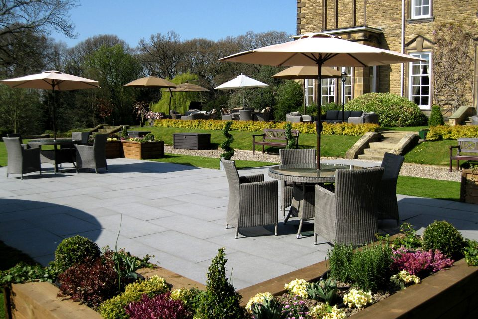 Outside Seating area in Judges Hotel garden